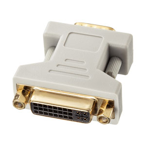 DVI変換アダプタ(DVI-IからVGAに変換)