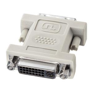 DVI変換アダプタ(DVI-IからDVI-Dに変換)