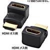 HDMIアダプタ L型(上)