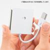 USB2.0 マルチカードリーダー(microSDXC/SDXC/CF対応・ケーブル固定タイプ・ブラック)