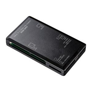 USB2.0 マルチカードリーダー(microSDXC/SDXC/CF対応・4スロット・ブラック)