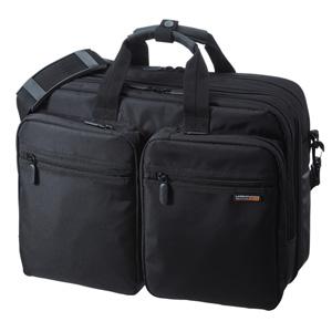 3WAYビジネスバッグ(15.6型ワイド・ダブル・出張用・ブラック)