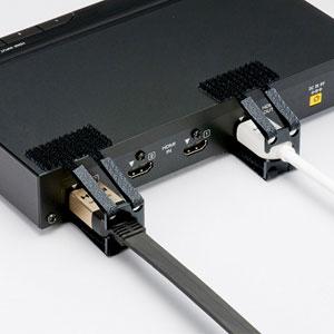 HDMIホールドロック(HDMIプラグ対応・抜け防止・面ファスナー取り付け)