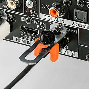 I/OロックHDMI-WIDE(AVレシーバー用HDMIプラグ対応・抜け防止・ネジ取り付け)
