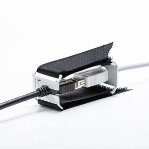 I/Oロックジョイント(USB/HDMI中継プラグ対応・抜け防止・面ファスナー取り付け)
