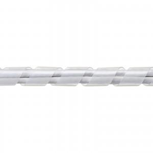ケーブルタイ(スパイラル・30m巻き・内寸直径12mm・ホワイト)