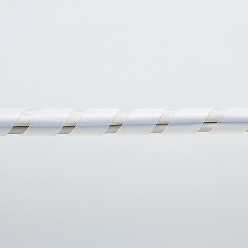 ケーブルタイ(スパイラル・2m巻き・内寸直径9mm・ホワイト)