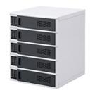 電子暗証番号ロック付きキャビネット(5台個別収納・W445×D482×H573mm)