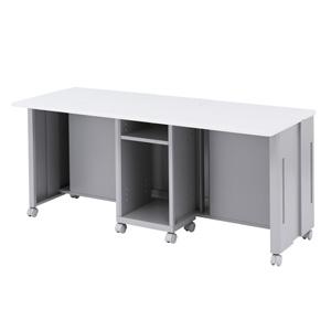 CAIデスク(液晶ディスプレイ収納・昇降タイプ・W1600mm)