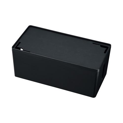 ケーブル&タップ収納ボックス(Mサイズ・ブラック)