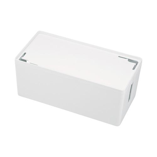 ケーブル&タップ収納ボックス(Mサイズ・ホワイト)