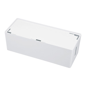 ケーブル&タップ収納ボックス(Lサイズ・ホワイト)