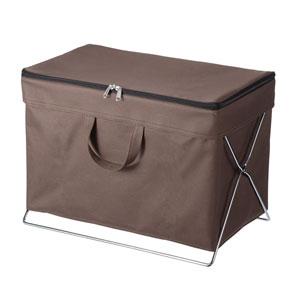 折りたたみ式蓋付き手荷物収納ボックス(ブラウン)
