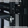19インチサーバーラック(中型・18U・奥行110cm・メッシュパネル・棚板×2枚・スライド棚×1枚付き)