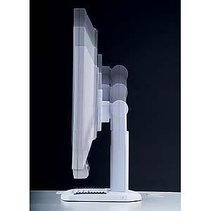 昇降液晶モニタスタンド(パールホワイト)