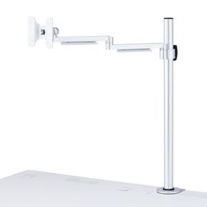 【わけあり在庫処分】水平多関節液晶モニタアーム(H700mm・1面)