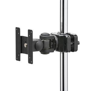支柱取付けモニタアーム(高耐荷重・20kgまで・支柱径25~40mm・短タイプ)