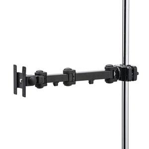 支柱取付けモニタアーム(高耐荷重・15kgまで・支柱径25~40mm・長タイプ)