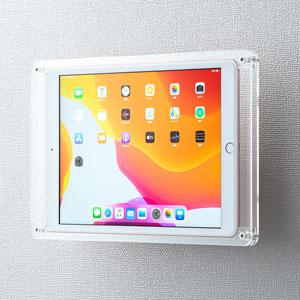 iPad10.2用ケース(アクリル・VESA対応・壁掛け・モニターアーム取付)