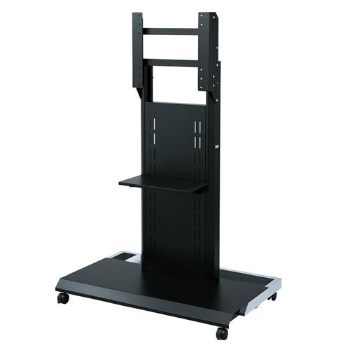 壁寄せテレビスタンド(キャスター付き・大型対応・60型/65型/70型/75型/80型/84型対応)