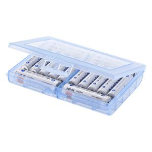 電池ケース(単3形、単4形対応・ブルー)