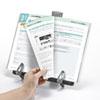 データホルダー 書見台 ブックスタンド A4対応 縦横両対応 ブラック