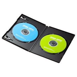 DVDケース(2枚収納・10枚パック・ブラック)