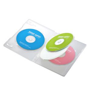 DVD収納ケース(4枚収納・3枚パック・クリア)