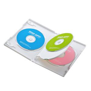 DVD収納ケース(4枚収納・3枚パック・ホワイト)