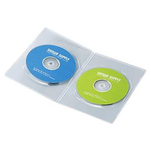 薄型DVDトールケース(2枚収納・10枚パック・クリア・7mm)