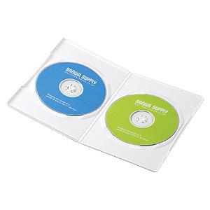 薄型DVDトールケース(2枚収納・10枚パック・ホワイト・7mm)