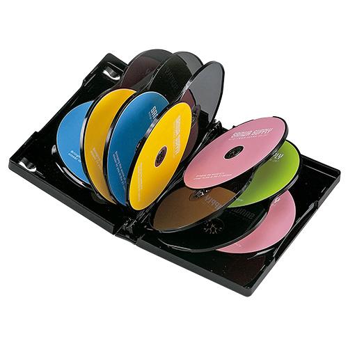 DVD保管ケース(12枚収納・3枚パック・ブラック・27mm)