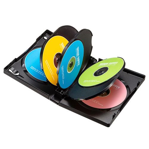 DVDトールケース(8枚収納・3枚パック・ブラック・27mm)