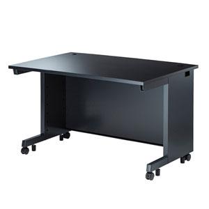 オフィスデスク(ブラック/W1200×D800mm)