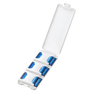 SDカードケース(6枚収納・2段・ホワイト)
