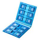 SDカードケース(12枚収納・クリアブルー)