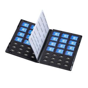 DVDトールケース型メモリーカード管理ケース(SDカード、microSDカード用)