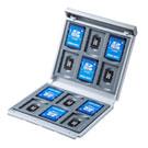 メモリーカードケース(SDカード12枚+microSDカード12枚・ハードケース・衝撃吸収・ホワイト)