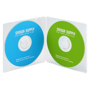DVD・CDケース(2枚収納・10枚セット・クリア)