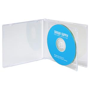 DVD・CDケース(2枚収納・5枚セット・クリア)