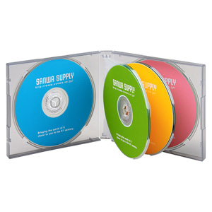 DVD・CDケース(6枚収納・3枚セット・ブラック)