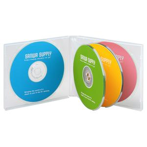 DVD・CDケース(6枚収納・3枚セット・クリア)
