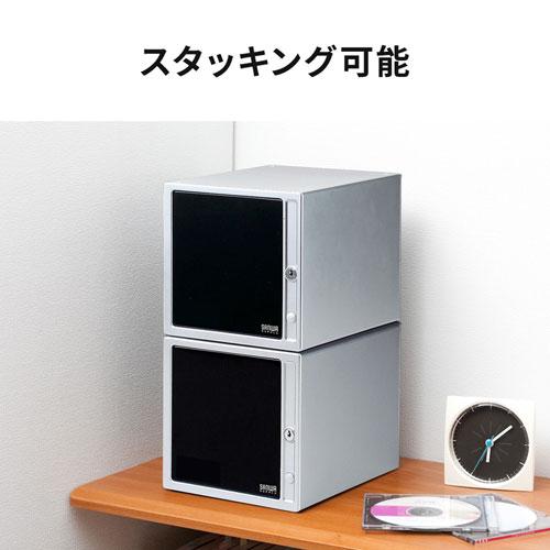 CD・DVD・ブルーレイ収納ケース(鍵付き・80枚収納)