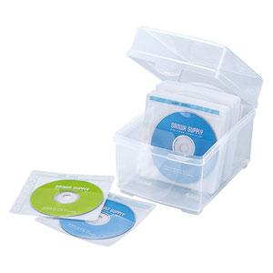 CD・DVDケース(プラスチック・ボックスタイプ・不織布ケース付き・100枚収納)