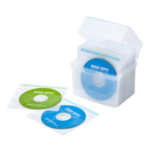CD・DVDケース(プラスチック・ボックスタイプ・不織布ケース付き・60枚収納)