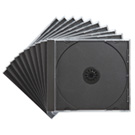 CDケース(10枚セット・DVD・ブラック・10mm)