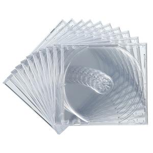 CDケース(10枚セット・DVD・クリア・10mm)