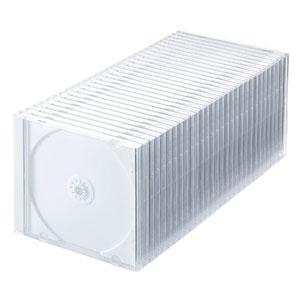 DVD・CDケース(30枚セット・ホワイト・10mm)