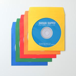 ディスクケース(DVD・CD・紙・100枚入り・ミックスカラー)
