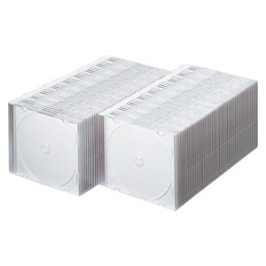 DVD・CDプラケース(100枚セット・マットホワイト・5mm)